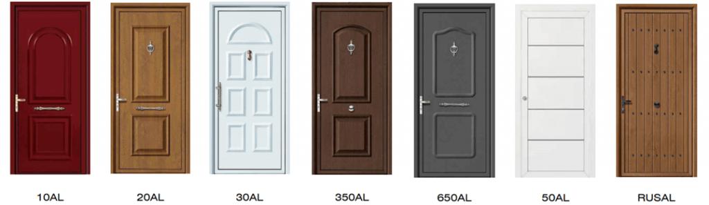 Tableros de aluminio para puerta acorazada