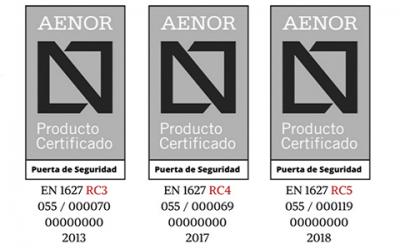 puertas acorazadas certificadas por aenor